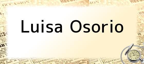 Luisa Osorio