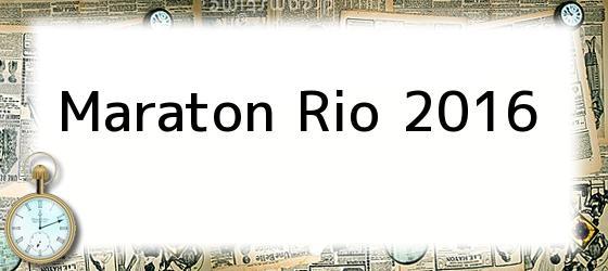 Maraton Rio 2016