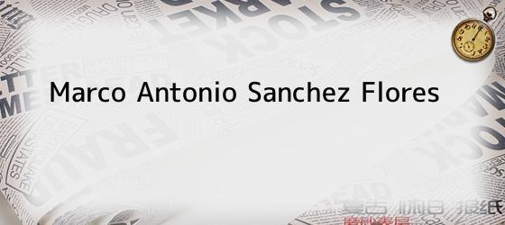 Marco Antonio Sanchez Flores