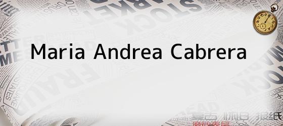 Maria Andrea Cabrera