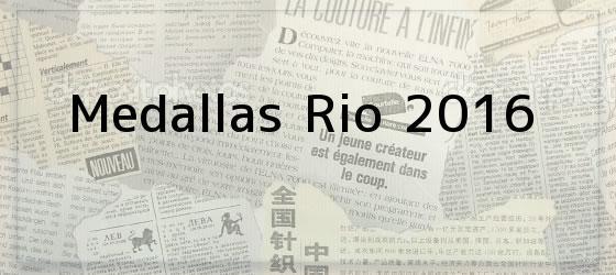 Medallas Rio 2016