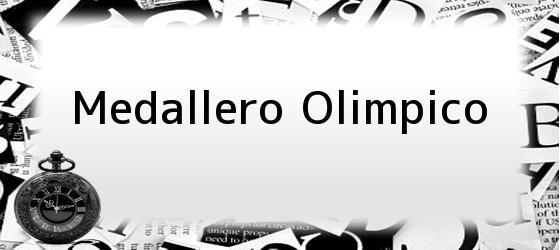 Medallero Olimpico