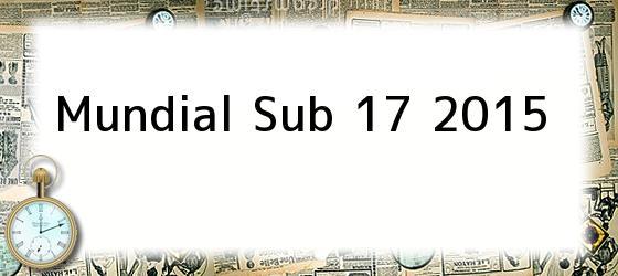 Mundial Sub 17 2015