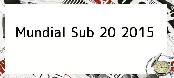 Mundial Sub 20 2015