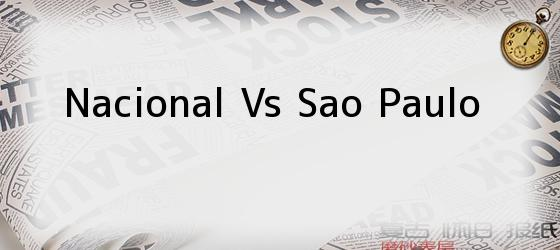 Nacional Vs Sao Paulo