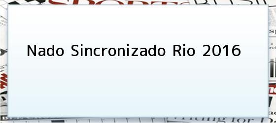 Nado Sincronizado Rio 2016