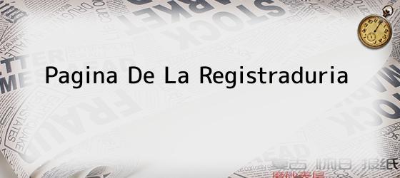 Pagina De La Registraduria