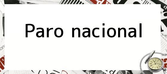 Paro Nacional