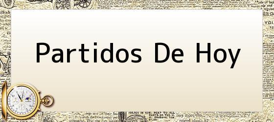 <i>PARTIDOS DE HOY</i>