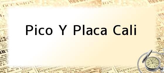 Pico Y Placa Cali