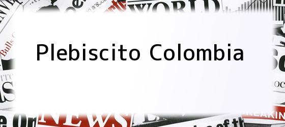 Plebiscito Colombia
