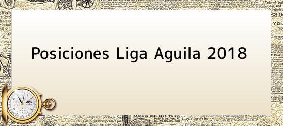 Posiciones Liga Aguila 2018