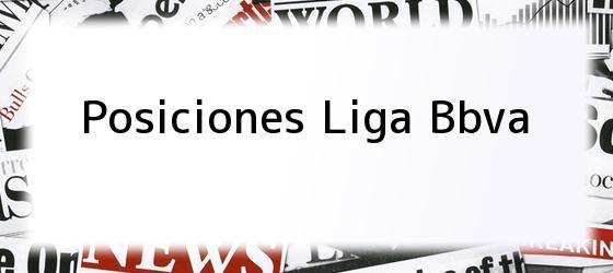 Posiciones Liga Bbva
