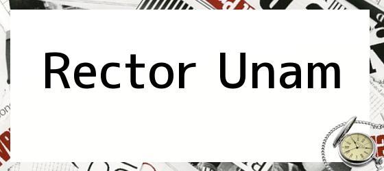 Rector Unam