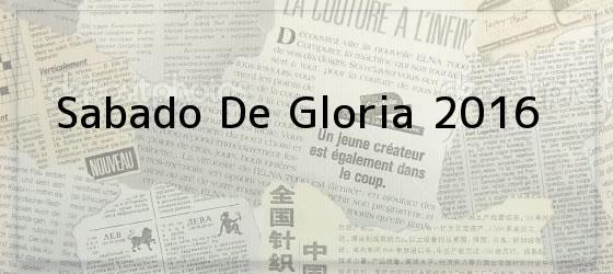 Sabado De Gloria 2016