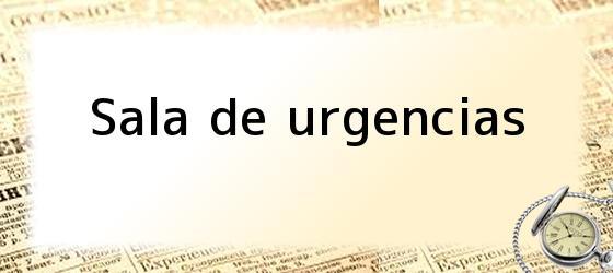 Sala de urgencias