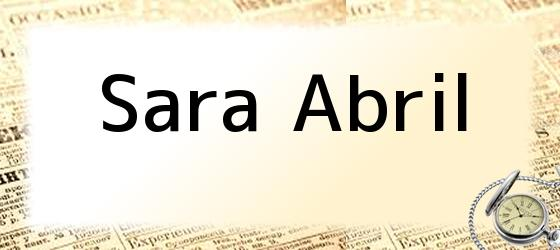 Sara Abril