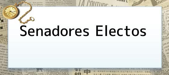 Senadores electos