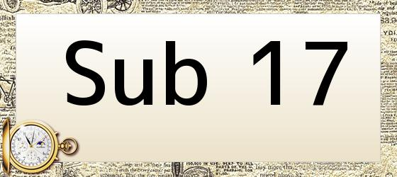 Sub 17