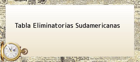 Tabla Eliminatorias Sudamericanas