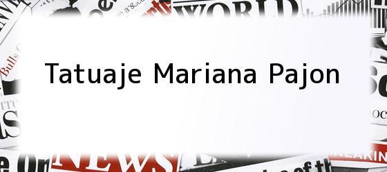 Tatuaje Mariana Pajon