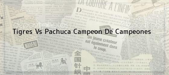 Tigres Vs Pachuca<i> Campeon De Campeones