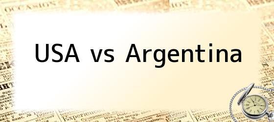 USA vs Argentina