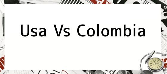 Usa Vs Colombia. Marcador Virtual: Estados Unidos vs ...