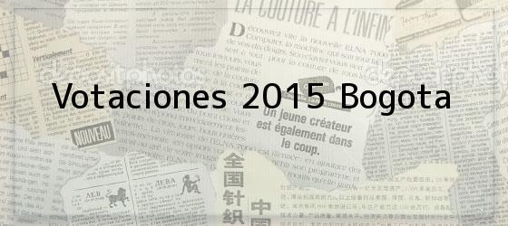 Votaciones 2015 Bogota