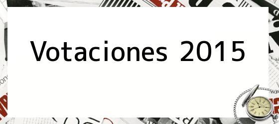 Votaciones 2015
