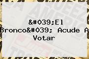 &#039;El <b>Bronco</b>&#039; Acude A Votar