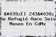 &#039;El <b>Z43</b>&#039; Se Refugió Hace Seis Meses En CdMx