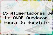 <b>15 Alimentadores De La ANDE Quedaron Fuera De Servicio</b>
