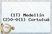 (1T) <b>Medellín</b> (2)0-0(1) <b>Cortuluá</b>