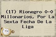 (1T) Rionegro 0-0 <b>Millonarios</b>, Por La Sexta Fecha De La Liga