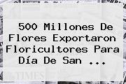 500 Millones De Flores Exportaron Floricultores Para <b>Día De San</b> <b>...</b>