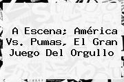 A Escena; <b>América Vs. Pumas</b>, El Gran Juego Del Orgullo