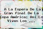 A La Espera De La Gran <b>final</b> De La <b>Copa América</b>: Así Lo Viven Los <b>...</b>
