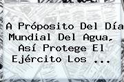 A Próposito Del <b>Día</b> Mundial Del <b>Agua</b>, Así Protege El Ejército Los ...