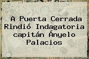 A Puerta Cerrada Rindió Indagatoria <b>capitán Ányelo Palacios</b>