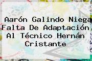 Aarón Galindo Niega Falta De Adaptación Al Técnico Hernán Cristante