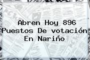 Abren Hoy 896 Puestos De <b>votación</b> En Nariño
