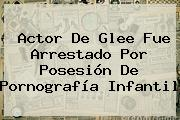 Actor De Glee Fue Arrestado Por Posesión De Pornografía Infantil