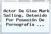 Actor De Glee <b>Mark Salling</b>, Detenido Por Posesión De Pornografía <b>...</b>