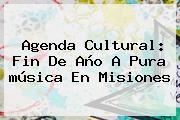 Agenda Cultural: <b>Fin De Año</b> A Pura <b>música</b> En Misiones