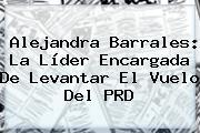 <b>Alejandra Barrales</b>: La Líder Encargada De Levantar El Vuelo Del PRD