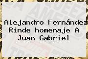 Alejandro Fernández Rinde <b>homenaje A Juan Gabriel</b>