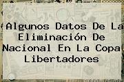 Algunos Datos De La Eliminación De <b>Nacional</b> En La Copa Libertadores