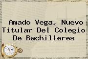 Amado Vega, Nuevo Titular Del <b>Colegio De Bachilleres</b>