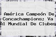 Concachampions. América campeón de Concachampions; va al Mundial de Clubes, Enlaces, Imágenes, Videos y Tweets
